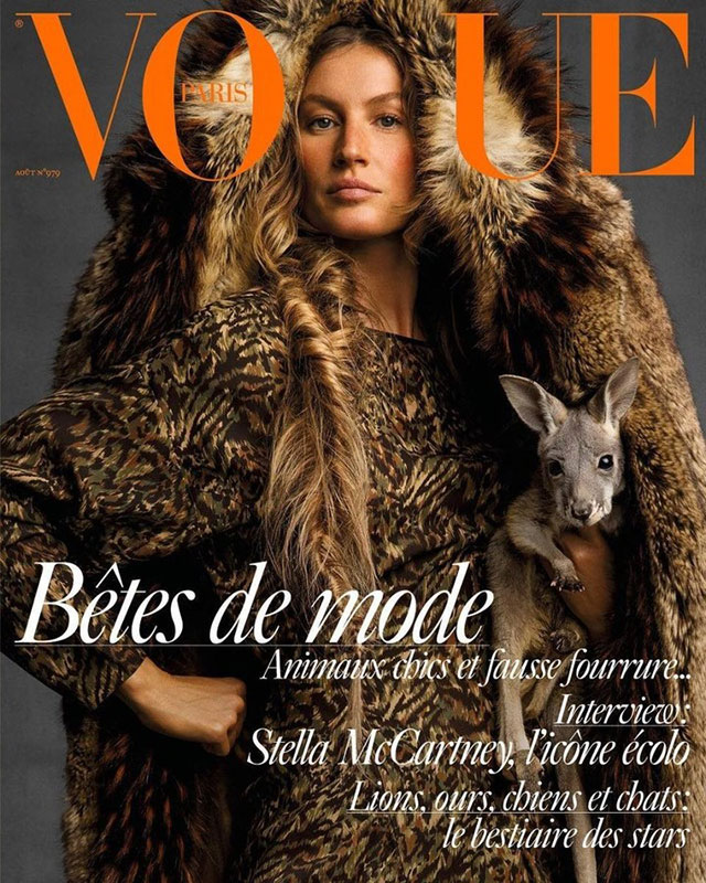 Vogue Paris August Issue Cover (Ines and Vinoodh)