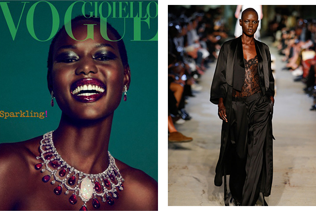 Left: Vogue Italia, right: Givenchy SS16