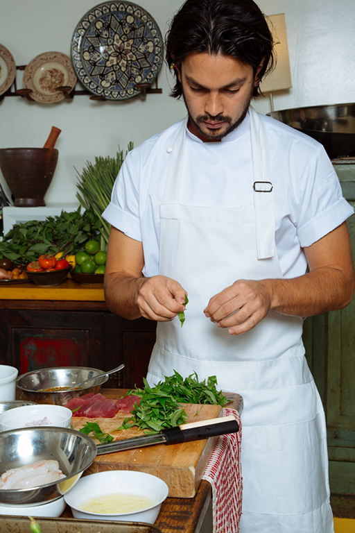 Executive chef Louis Tikaram