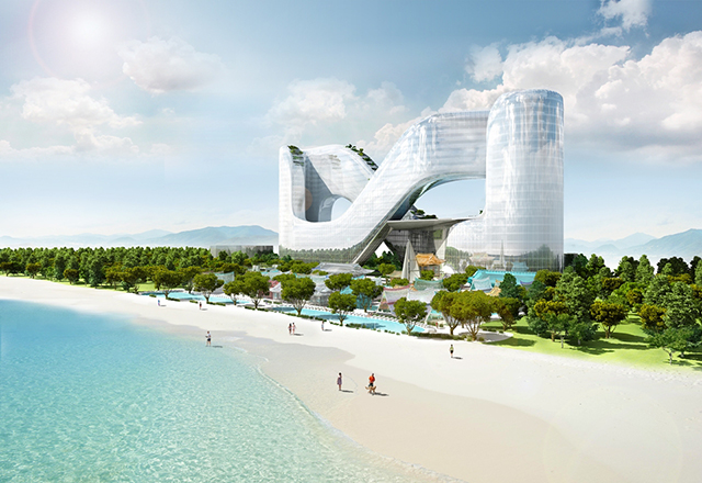 This is happening: a figure-8 luxury resort in South Korea