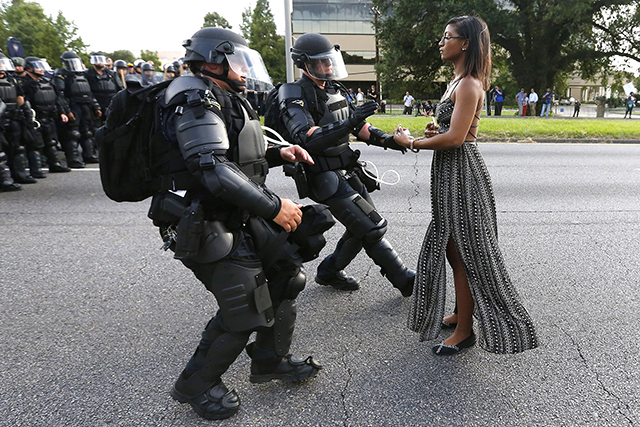 Ieshia Evans photographed by Jonathan Bachman for Reuters