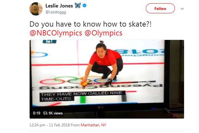 Olympics curling competition @Lesdoggg