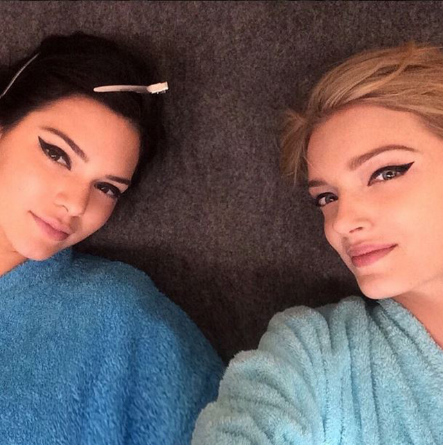 Sneak peek: Kendall Jenner and Lily Donaldson shoot the Fendi campaign