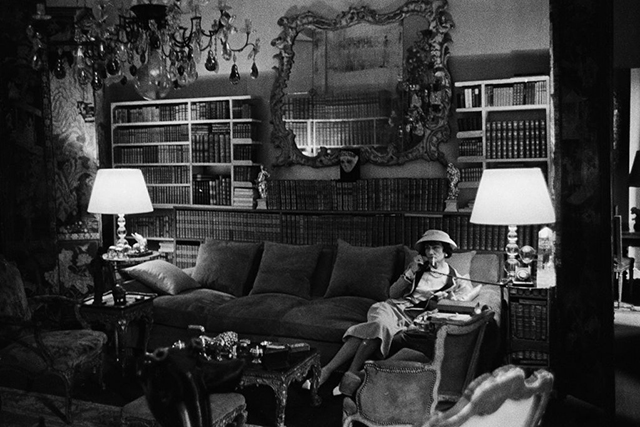 Coco Chanel in her Parisian apartment