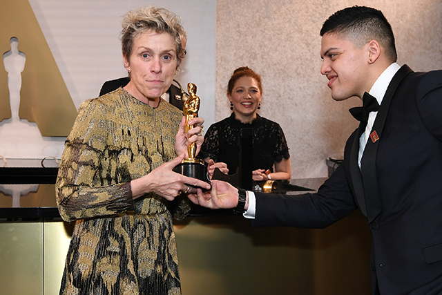 Frances McDormand Oscars 2018. Image: Angela Weiss/AFP/Getty Images