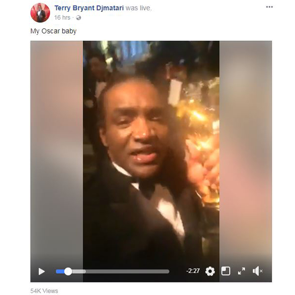 Terry Bryant Djmatari Facebook Oscar video
