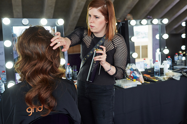 ghd inifnite styling event: arms-length hairspray