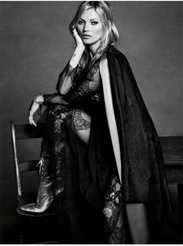 Kate Moss smoulders in the new Alberta Ferretti campaign