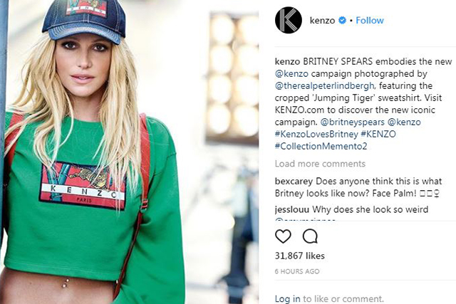 Britney Spears for Kenzo. Image @kenzo