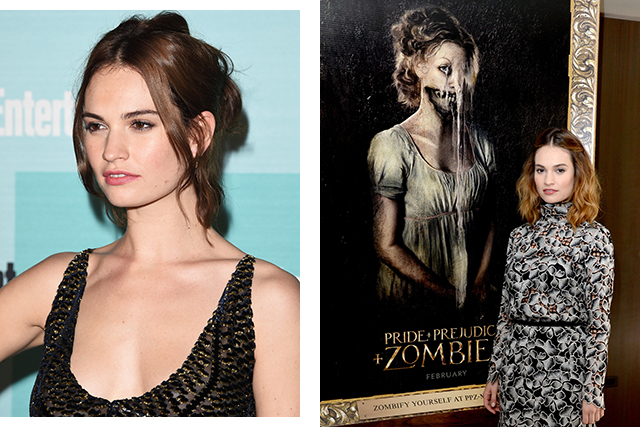 "Lily James: ""I accidentally stamped on someone's head"" (фото 4)"