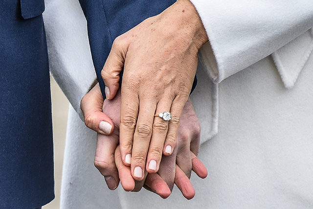Meghan Markle engagement ring (image: Getty)