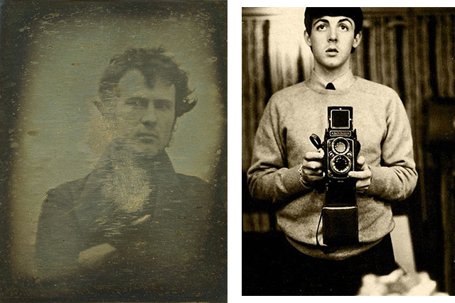 Left: Robert Cornelius, right: Paul McCartney
