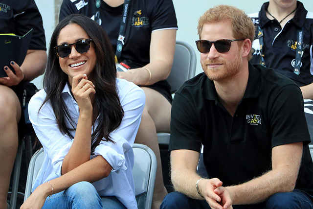 Prince Harry and Meghan Markle at the Invictus Games. Image: Getty