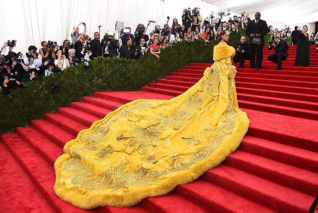 Rihanna Met Gala 2015. Image: Timothy A. Clary/AFP/Getty Images