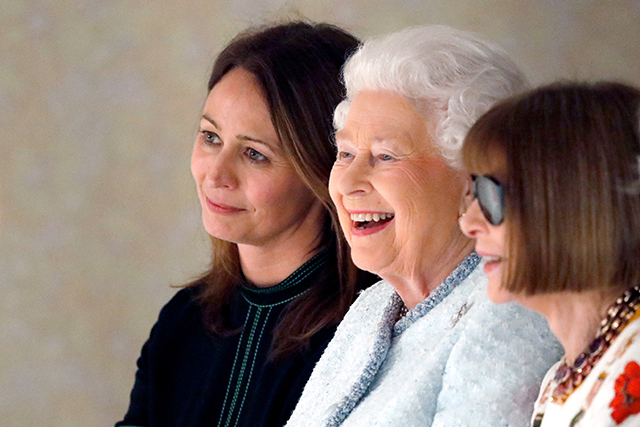 The Queen at LFW. Image: Yui Mok - Pool/Getty Images