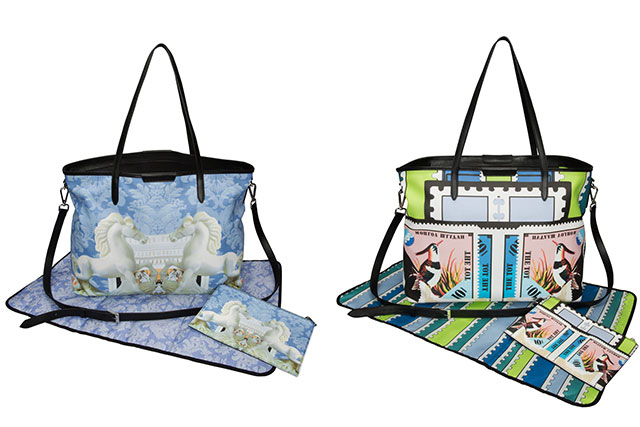 Which major designer has created covetable baby bags?
