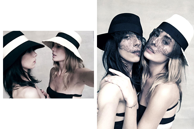 Hats off: Karl taps 5 model muses for Maison Michel