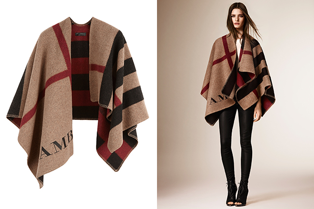 Seasonal update: 11 reasons we still love the Burberry poncho (фото 1)