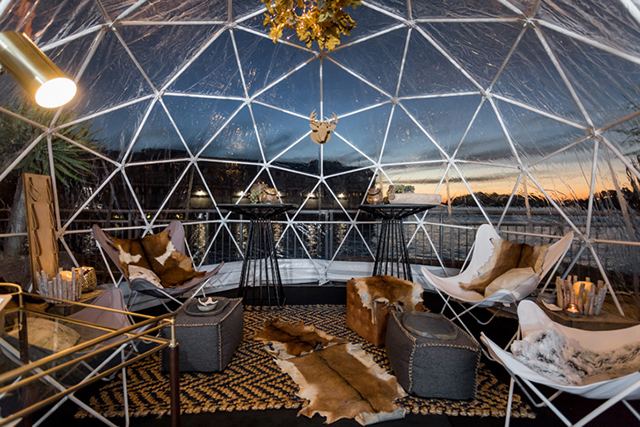 Domes on the pier sydney igloo themed pop up bar buro 24 for Buro 600 6ft ups