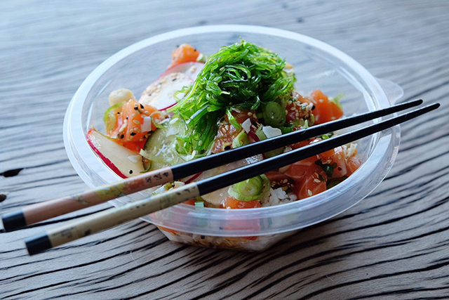 A modern sushi bowl joint has opened at Bondi Beach