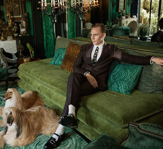 Tom Hiddleston lands Gucci Campaign (фото 5)