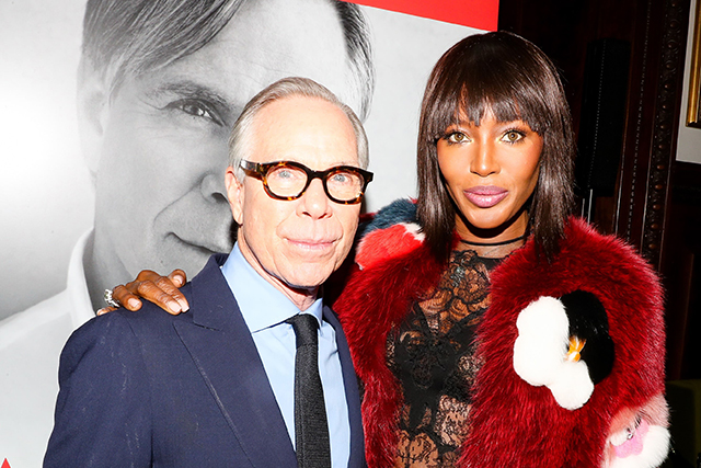 Naomi Campbell with Tommy Hilfiger at his book launch in New York this year.