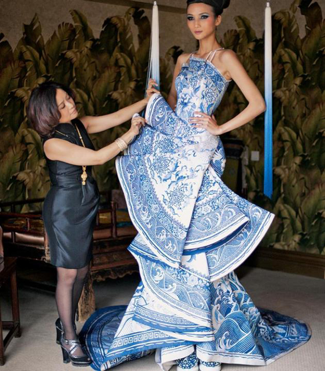 Chinese couturier Guo Pei brings her glittering gowns Down Under