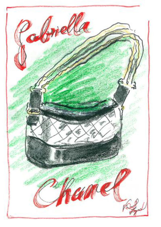 An illustration of the Gabrielle by Karl Lagerfeld