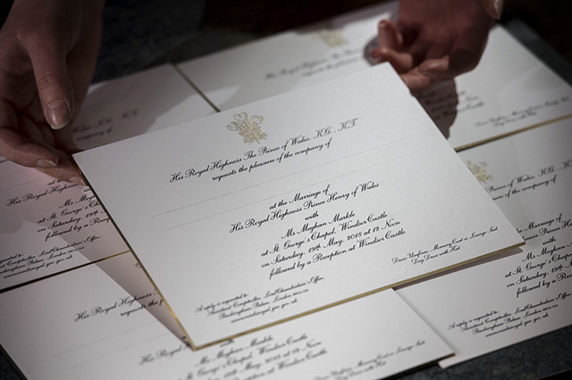 Royal wedding invitations are in the post!