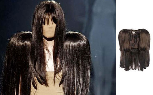 A famous 'Wig' dress from the Spring Summer 2009 collection
