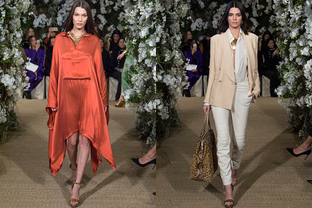 Bella Hadid and Kendall Jenner at Ralph Lauren
