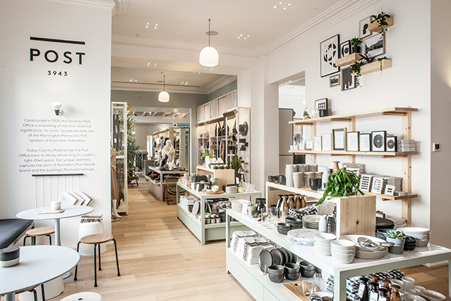 Country road opens sorrento concept store and cafe buro for Buro shop concept