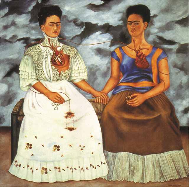'The Two Fridas', 1936, oil on canvas.
