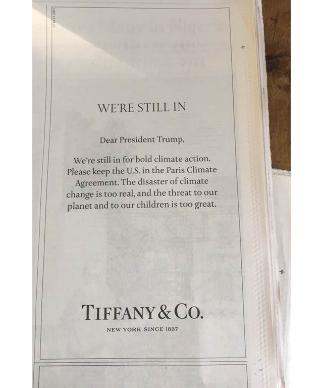 Tiffany & Co has a message for President Donald Trump (фото 2)