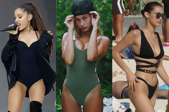 Ariana Grande, Hailey Baldwin and Bella Hadid in Zigilane