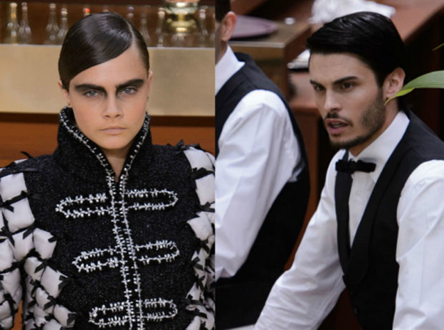 Kendall Jenner and Cara Delevingne gender-bend on the Chanel runway