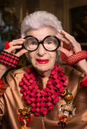 """When we were small children, we played dress ups and everyone had a good time. Why stop?"" - Iris Apfel"