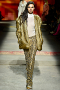 (Fake) fur jackets clashed with snake print for a modern rock 'n' roll look.