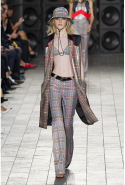 Versus Versace dared to bare in a series of plaid looks.