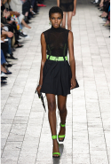Touches of fluoro green gave the collection an underground '80s rave edge
