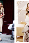 7.	Of course, you can't talk about SATC without mentioning the outfits. From Carrie's signature fur coat to that corsage moment (that launched a thousand copycat versions) circa 1999-2000 -  SATC was the trend-setting show of its era.