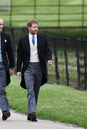 9.	Pippa's new brothers in law, Prince William and Prince Harry were spotted at the ceremony, however Meghan Markle was not present.