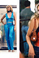9.	At one point during the show's tenure, stylist Patricia Field had such influence on fashion and pop culture, she could literally dress Carrie in anything. Like mismatched shoes (left), which were a legit joke. Others remain laughably specific to the early noughties – such as this halter top and Fendi baguette combo. Anyone else remember the era of the really small, completely impractical shoulder bags?