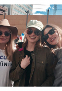 11.	She also participated in the Women's March alongside fellow Down Under actress friends Bella Heathcote and Rose McIver.