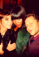 With Carine Roitfeld and Naomi Camobell