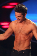 Zac Efron (shirtless, duh),