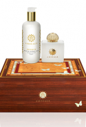 14.	AMOUAGE Honour Woman Gift Set. Fans of classic, feminine fragrance will definitely be asking Santa for pretty white florals this year. Amouage's ever-distinctive flair puts a fascinating spin on the glistening wet petal freshness of gardenia, jasmine, lily of the valley and tuberose - with pepper, rhubarb and a resin base of frankincense, opoponax and vetiver. Inspired by the tragic love of operatic heroine Madame Butterfly, this gift set lends itself to high drama, with a highly memorable Amouage fragrance that fans can also slather on as body lotion for an even longer lasting impression.  Amouage Eau de Parfum (100ml) + body lotion 300ml, $399, libertineparfumerie.com.au