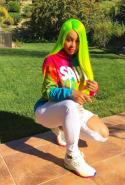 Blac Chyna is into donning lurid green wigs…