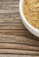 Flaxseed meal. High-fibre food like milled flaxseeds will increase transit time and encourage the thorough elimination necessary for efficient detoxification.