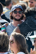 Kit Harington in the crowds on Sunday